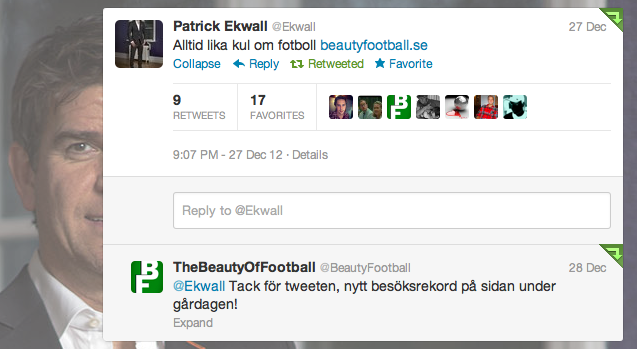 Patrick Ekwall Twitter